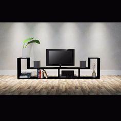 Muebles Tv Minimalista Centro De Entretenimiento Blue-ray - Bs. 37.990,00