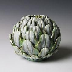 Small Artichoke by Kate Malone - Adrian Sassoon click the image or link for more info. Cactus Ceramic, Ceramic Clay, Ceramic Pottery, Pottery Art, Pokemon Backgrounds, Organic Ceramics, Coil Pots, Pottery Designs, Pottery Ideas
