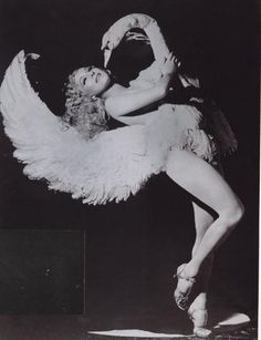 """Hattie Helen Gould Beck was born in the village of Elkton, Hickory County, Missouri AKA Sally Rand (April 3, 1904 – August 31, 1979) was a burlesque dancer and actress, most noted for her ostrich feather fan dance and balloon bubble dance. She also performed under the name Billie Beck. (Photo - Leda and the Swan) """"I haven't been out of work since the day I took my pants off."""""""