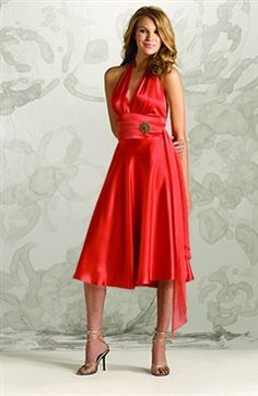 Knee-length Sleeveless A-line Reds #Bridesmaid #Dress Style Code: 02529 $84