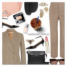 """""""Tried and True: Wardrobe Staples"""" by danielle-487 ❤ liked on Polyvore featuring STELLA McCARTNEY, Paul & Joe, Aquazzura, Maison Michel, MANU Atelier, Ganni, Yves Saint Laurent, Couture Colour and WardrobeStaples"""