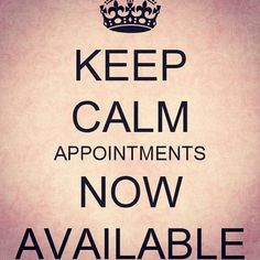 Good morning!! I have appointments now open for Thursday and Friday! Visit…