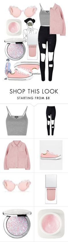"""""""010416"""" by patttiee ❤ liked on Polyvore featuring Topshop, Converse, Opening Ceremony, Givenchy, Guerlain and Erno Laszlo"""