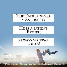 God never abandons you. #WalkwithFrancis