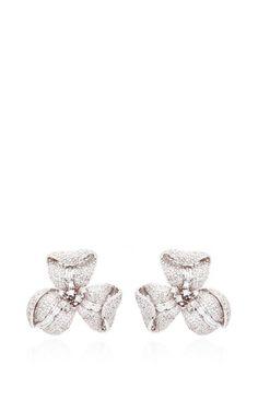 One Of A Kind Diamond Flower Earrings by Helen Yarmak International for Preorder on Moda Operandi