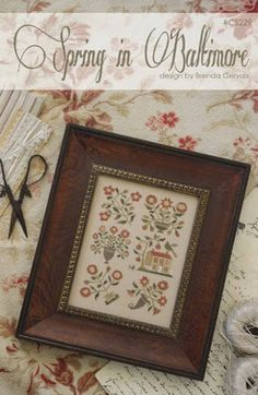 Pre-order 2018 Nashville Market WITH THY NEEDLE Spring in Baltimore counted cross stitch patterns at thecottageneedle.com by thecottageneedle