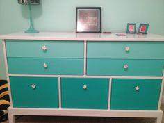 Ombré dresser for tween bedroom Teen Bedroom, Dream Bedroom, Bedroom Ideas, Bedrooms, My New Room, My Room, Furniture Inspiration, Room Inspiration, Furniture Makeover