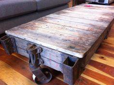 Rustic barn wood coffee table