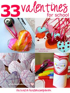 33 valentines the kids can help make to take to school. Super cute!