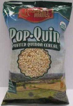 Kosher Mills Pop-Quin Puffed Quinoa Gluten-Free Cereal:Amazon:Grocery & Gourmet Food