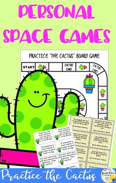 Help students learn personal space by practicing the cactus with these fun games! Social Skills Activities, Teaching Social Skills, Counseling Activities, Social Emotional Learning, Therapy Activities, Therapy Games, Group Counseling, Therapy Tools, Group Activities