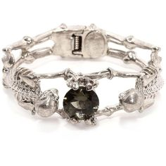 Alexander McQueen Twin Skeleton Jewel Bangle