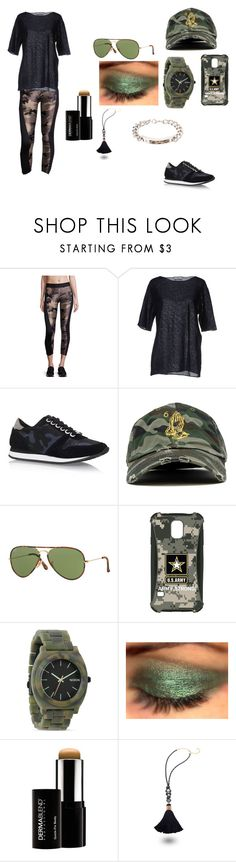 """Going The Army"" by mgonzalex on Polyvore featuring Koral, Camo, Carvela Kurt Geiger, Ray-Ban, Samsung, Nixon, Dermablend and Mimilore"