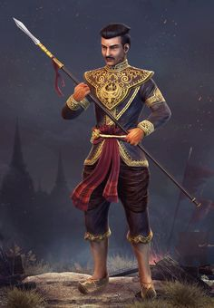 King Naresuan by ZawYeMyint1.deviantart.com on @deviantART