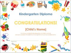 Free printable kindergarten graduation certificate template umi screenshot of the kindergarten diploma template free certificate yelopaper