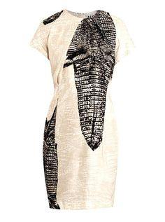 Acne Crocodile-Print Dress