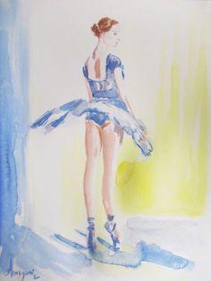 Ballerina 16- Original ballet watercolor painting