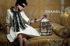Saskia de Brauw and Cara Delevingne Are Golden for Chanels Cruise 2013 Campaign by Karl Lagerfeld