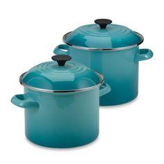Le Creuset® Stockpot in Caribbean Blue - BedBathandBeyond.com