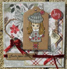 des cartes pour Noël - tampons la compagnie des elfes