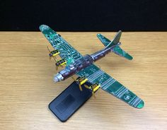 B-17 Bomber from WWII created from computer parts.