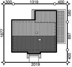 Projekt domu Terrier 2 bez garażu 93,3 m2 - koszt budowy - EXTRADOM