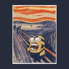 T-Shirts, the scream - minion - edvar... | TeePublic