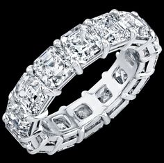 Asscher Square Diamonds Eternity Diamond Ring  ANNIVERSARIES!! ~Todd Drake 214.681.3712 rounds,ovals, cushions ,radiants pure class