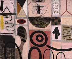 "ymutate: "" ADOLPH GOTTLIEB (1903–1974) The Seer, 1950 Oil on canvas © Adolph and Esther Gottlieb Foundation/Licensed by VAGA, New York, NY found at phillipscollection.org """