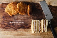 Tonkatsu Sando - It seems that most of the world has a version of schnitzel: cutlet-style meat, breaded and fried. I love meat, I love bread, and I love anything deep-fried, so it's a no brainer that I love schnitzel-like foods. Crispy Pork, Fried Pork, Best Sandwich, Sandwich Recipes, World's Best Food, A Food, Chorizo, Pork Cutlets, Recipes