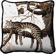 26 x 26 Square Floor Pillow Kess InHouse BarmalisiRTB American Mountain Deer Black White Digital