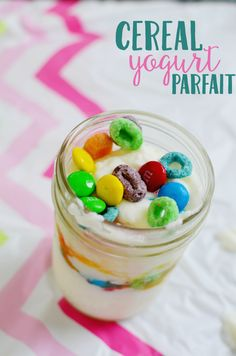 Create a fun breakfast bar with these game night party ideas! Try playing Jenga and Monopoly with cereal yogurt parfaits and fresh fruit! #GameNightIn #ad
