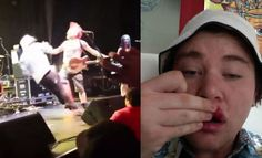 Dude Gets Knocked Out For Jumping On Stage At Punk Show! - Gorilla Gang Knock Knock, Stage, Punk, Punk Rock