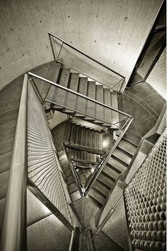 Stairs at Yale University Art Gallery - Louis Kahn