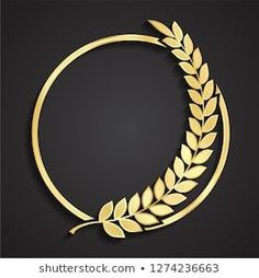 Find Laurel Wreath Circle Golden Logo stock images in HD and millions of other royalty-free stock photos, illustrations and vectors in the Shutterstock collection. Thousands of new, high-quality pictures added every day. Logo D'art, Art Logo, Circle Logo Design, Circle Logos, Logo Boulangerie, Golden Logo, Design Art, Graphic Design, Bakery Logo