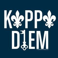 Kappa Diem using the fleur-de-lis and the key, perfect for a t-shirt! #KKG #KKG1870