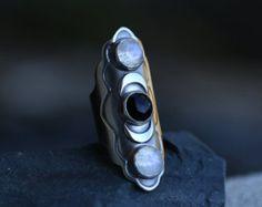 Una vez en una luna azul talla 9 1/2 moonstone por spiralstone