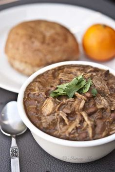 #Slowcooker - Slow Cooker Pork and Beans #Recipe from Skinny Ms. Classic delicious dish