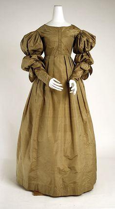 British silk dress 1830-1835