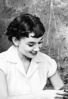 Audrey Hepburn on the set of Roman Holiday, 1953