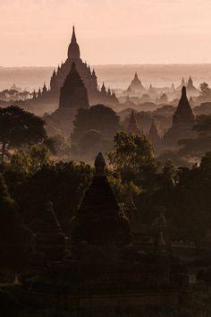 wonderous-world:  Bagan, Myanmar by Grigory Gankin