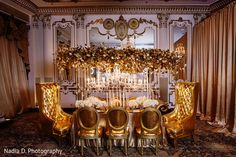 This Indian bridal photo shoot features gorgeous floral and decor.