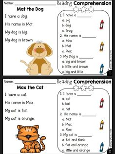 First Grade Reading Comprehension, Phonics Reading, Reading Comprehension Worksheets, Reading Passages, Teaching Reading, English Language Learning, Teaching English, Learn English, English Worksheets For Kids