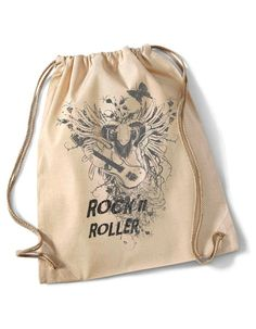 """""""Beastly Rock'n Roller """"  Cotton Gymsack natur von MAD IN BERLIN auf DaWanda.com"""