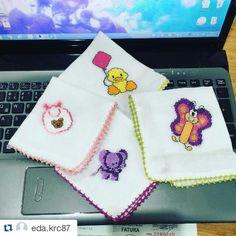 Bebek agiz mendilleri kanavice islemeli Sipariş için→ Instagram nakis_atolyesi