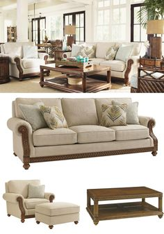 Unwind in comfort and style in your living room. Furniture from the Bali Hai Collection by Tommy Bahama Home captures the essence of the tropical resort with a blend of British West Indies and Polynesian design.