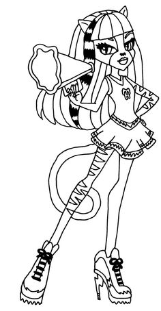 Monster High Colouring Pages to Print ColouringBratzMonster