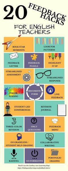 20 Strategies for Writing Feedback - Feedback Hacks for English Teachers | FREE Resources | Lindsay Ann Learning English Teacher Blog