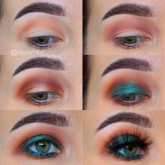 "3,592 Likes, 74 Comments - Lily (@lilyywhite_) on Instagram: ""Look how easy this look is!! And it's still smack you in the face green gorgeousness Done using 1…"""