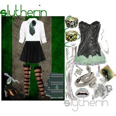 Slytherin, created by infracti-angelus on Polyvore